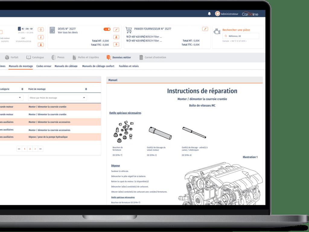 ERP avec catalogue Tecdoc pour garages et distributeurs de pièces